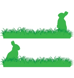 Simple bunny banner vector image