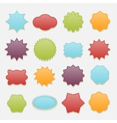 Sticky badges stars and clouds tags set vector