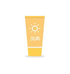 Suntan cream icon on isolated background vector