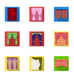 Textiles curtains drapes and other web icon in vector