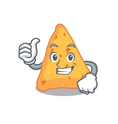 Thumbs up nachos character cartoon style vector