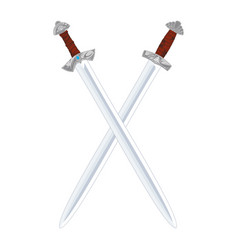 viking sword vector image