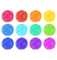Watercolor circles isolated on white vector