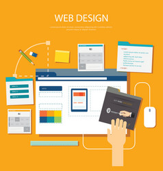 Website development project design concept vector