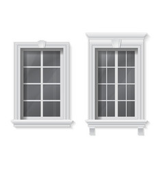 window in classic frame vector image