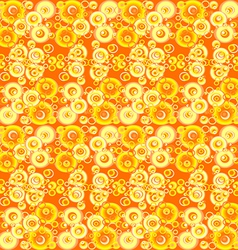 Yellow abstract background with circles vector image