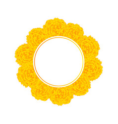 yellow marigold banner wreath vector image