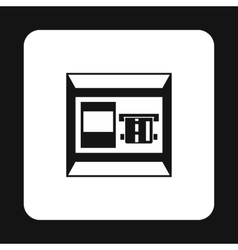 Atm bank cash machine icon simple style vector