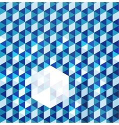 Blue modern geometric design template vector image vector image