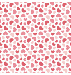 cute valentines day seamless pattern background vector image vector image