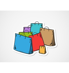 few bags for shopping vector image