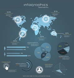 gray infograph vector image