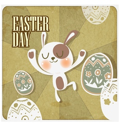 rabbit in easter day vector image vector image