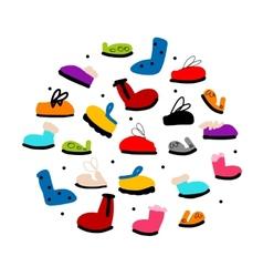 Season shoes collection sketch for your design vector