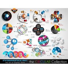 Circular Infographics BIG collection for your vector image