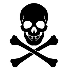 Crossbones and skull vector image