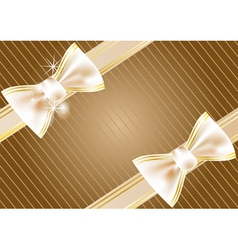 festive background with ribbon vector image