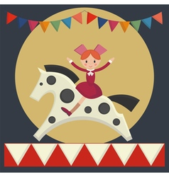girl sitting on horse vector image