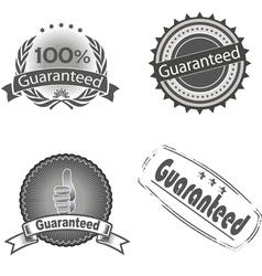 guaranteed logo vector image vector image