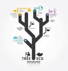 infographics tree design diagram line style templa vector image vector image