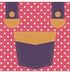 pocket and suspenders vector image vector image