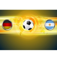 Soccer background Germany and Argentina football vector image