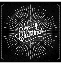 Christmas Logo On Chalk Background vector image vector image