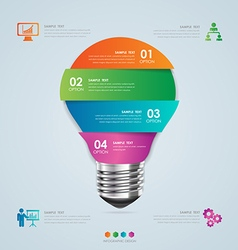 Business concept infographic template vector image