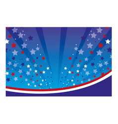 Color background with stars in the sky vector