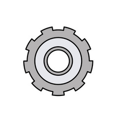 Colorful silhouette of gear of wheel vector
