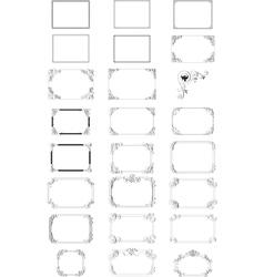Elegant borders vector