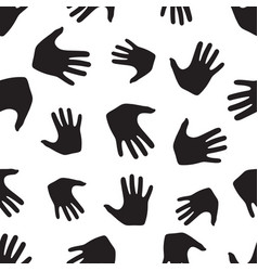 seamless pattern from hands vector image