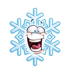 Snowflake Head LOL vector image vector image