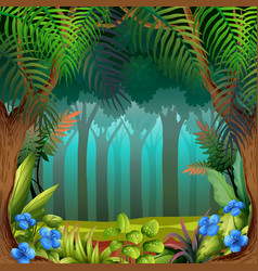 a nature theme template vector image