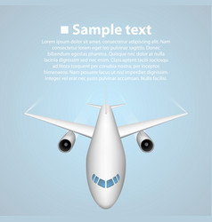 airplane in blue background vector image