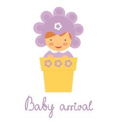 Baby arrival baby in pot vector image