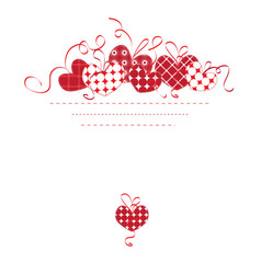 Background with heartss vector