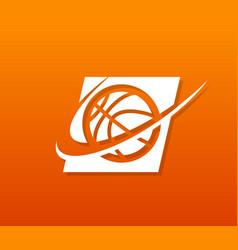 basketball logo icon vector image