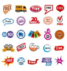 Big set of logos free vector