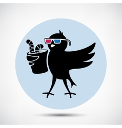 Bird with 3D Glasses vector