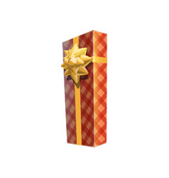 Box in checkered wrapping vector