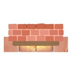 Brick wall icon cartoon style vector