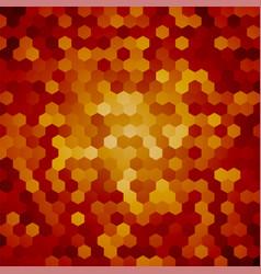 Brown hexagon background snakeskin vector