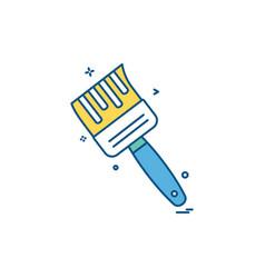 brush icon design vector image