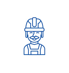 builder line icon concept builder flat vector image