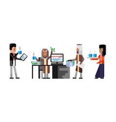 Business meeting arab businessmen in office vector