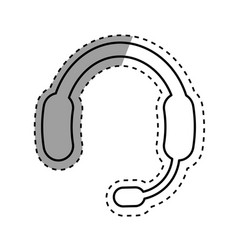 Call center headset device vector