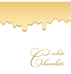 chocolate seamless pattern drip white chocolate vector image