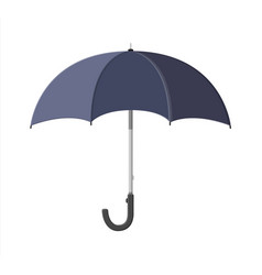 Classic opened black umbrella personal accessory vector