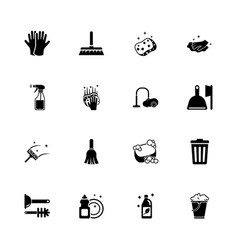 cleaning - flat icons vector image vector image